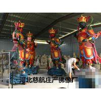 四大天王佛像站像彩绘玻璃钢佛像生产厂家 四大金刚彩绘玻璃钢佛像现货低价批发