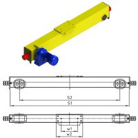 European Single Girder Top Running End Carriage