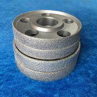 钎焊金刚石砂轮橡胶轮胎EVA专用钎焊破碎料砂轮定制加工