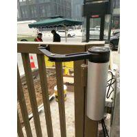销售江苏南京室外曲臂式电动开门机,荣博小区电动闭门器