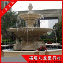 广场欧式石材水钵 黄锈石喷泉 福建惠安石雕厂