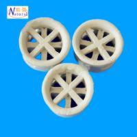 厂家低价供应陶瓷散堆填料 高效环保传质设备25mm陶瓷阶梯环填料