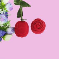 厂家直销玫瑰花圆型戒指盒吊坠盒耳钉盒结婚求婚礼品包装盒可定制