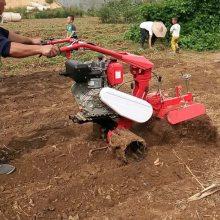 大棚草莓种植扶垄机 多功能田间管理机 多用途开沟培土旋耕机