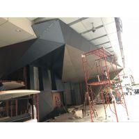 讲解广州北京路电竞生活馆门头雨棚招牌铝单板峻工开业