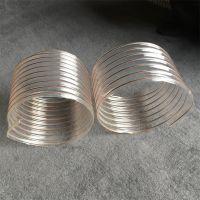 透明带钢丝增强软管 PU带钢丝增强除尘软管 100*0.6