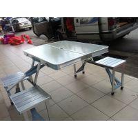 连体折叠桌椅、户外可折叠的桌子、移动便携式折叠桌椅现货批发定制