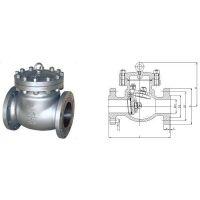 现货供应HLSH-F-2100 对接焊法兰连接低温止回阀 LNG低温阀