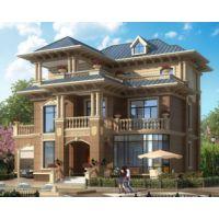 吉安房屋设计AT1740四川资阳三层带车库别墅设计图纸14.5mx13.1m