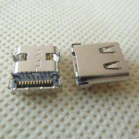 3.1 USB 板上型TYPE C母座 【24PIN板端前插后贴】 TYPE-c手机插座