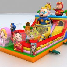 猪猪侠陆地闯关城堡游乐场设备 儿童充气城堡