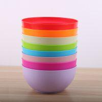 厂家直销日式圆形色拉碗 pp大容量塑料碗 水果蔬菜搅拌碗