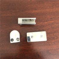 金聚进 304 201不锈钢0度加长90度180度 T型玻璃固定夹五金配件隔断码