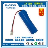珠海大兴动力厂家优质直销 3.7V2000MAH锂电池 医疗设备 电动工具锂电池