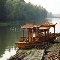 冯氏出售湖南画舫船船仿旧木船电动船水上餐休闲观光客船