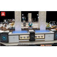 厂家直销迪克森大理石自助餐台海鲜冰槽设计制作北欧风格布菲台自助餐桌子多功能定制