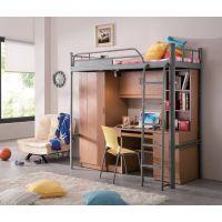 武侯区公寓床家具定做.简约现代式学生铁床
