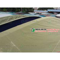 防水有机硅户外景观篷布_钢结构篷房篷布材料_通拓帆布厂
