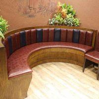 众美德定制时尚酒店沙发定做简约中餐厅茶餐厅软包弧形沙发卡座