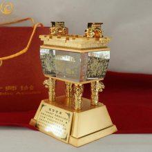 上海乔迁仪式嘉宾礼品,酒店开业纪念品,诚信金鼎摆件,奠基活动工艺品