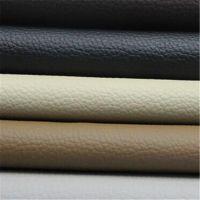 厂家直销荔枝纹PVC皮革 环保耐磨汽车坐垫专用革|箱包革皮料批发