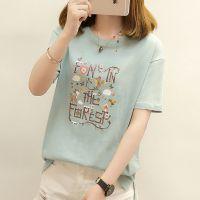 淮北便宜T恤韩版女士上衣纯棉短袖夏季女装半袖大码女装拉架棉T恤清仓