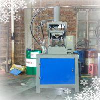 特价供应华久机械L65-R140镀锌方管切45度角机器 门框架子90度 液压冲床