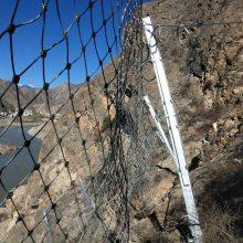 贵州坡面防护铁丝网加工厂家&被动菱形防护网型号介绍&双层边坡防护网