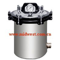 中西dyp 不锈钢手提式压力蒸汽灭菌器(国产优势)库号:M270311
