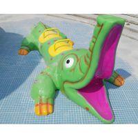 水上游乐设施儿童戏水小品广州鸿波HB-XS010喷水鳄鱼