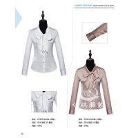 女性短袖衬衫,现货纯棉文员衬衣,韩版白色衬衫定制