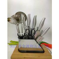 阳江刀具组合十二件套 不锈钢刀具套装家用厨具组合