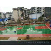 衡阳彩色地板胶篮球场施工注意事项 户外运动球场承接厂商