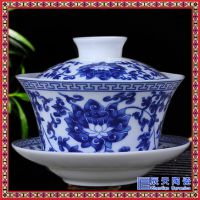 盖碗茶杯 功夫茶具泡茶碗壶陶瓷玲珑茶具大号三才泡茶器杯子
