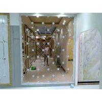 定制粉镜加圆钻 异形餐厅背景墙玻璃 安装方便 增大空间效果
