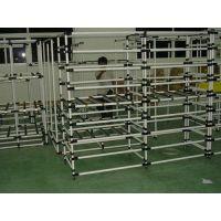 太仓厂家生产低价高品质定制流利架线棒精益管桌子不锈钢流水线万向轮车子多层抽拉网框拆卸式工作台组装