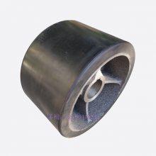 300搅拌机摩擦胶轮 直径200mm内孔42mm搅拌机支撑托轮滚轮承重胶轮
