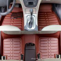 4S专供5座轿车汽车脚垫专车专用全包围大包围皮革压痕脚垫