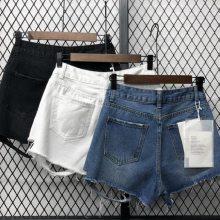 2块钱短裤批发广州的尾货批发市场库存女装牛仔裤磨边破洞牛仔短裤清仓