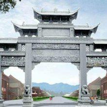 贵州景区石牌坊,花岗岩石牌坊图片样式。