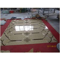 厂家直销 艺术玻璃灰镜超白镜砖块拼镜客餐厅影视背景墙焕彩拼镜