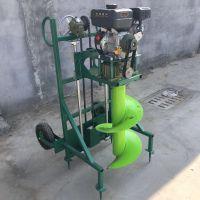 手提式种树挖坑机 多功能自动型打穴机型号 启航施肥打坑机图片