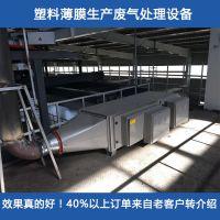 铂锐塑料薄膜厂废气处理设备 塑料吹膜机/挤出机废气净化设施
