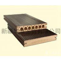 新疆塑木地板 华庭塑木地板防腐蚀耐老化 昌吉合成木地板厂家