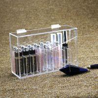 亚克力唇釉收纳盒透明27格长方形口红唇彩唇膏翻盖盒子可定制批发