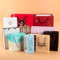 白色包装纸袋定制创意 服装手提袋可设计LOGO 化妆品购物袋