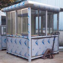 豪华不锈钢全304材质保安门卫收费岗亭停车场站岗台