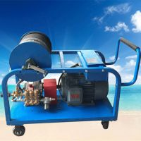 河南厂家直销超洁牌cj-5415型小区管道疏通高压清洗机