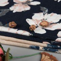 厂家批发春夏新款碎花布料涤纶印花布 时尚女装连衣裙印花面料