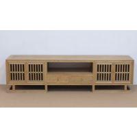 白蜡木现代电视柜 中式免漆白蜡木电视柜榆木电视柜